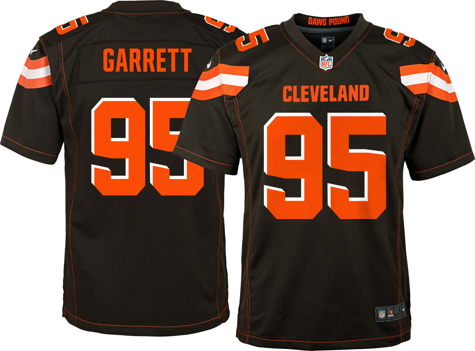 more photos b7922 43935 Youth Home Game Jersey Cleveland Browns Myles Garrett #95 ...