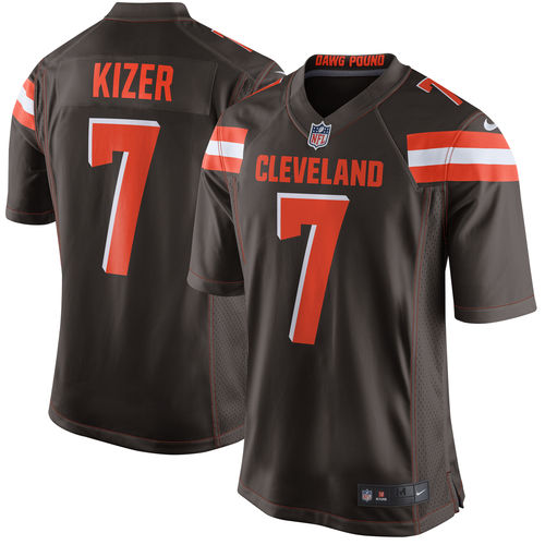 competitive price 08922 15506 Men's Nike DeShone Kizer Brown Cleveland Browns Game Jersey ...